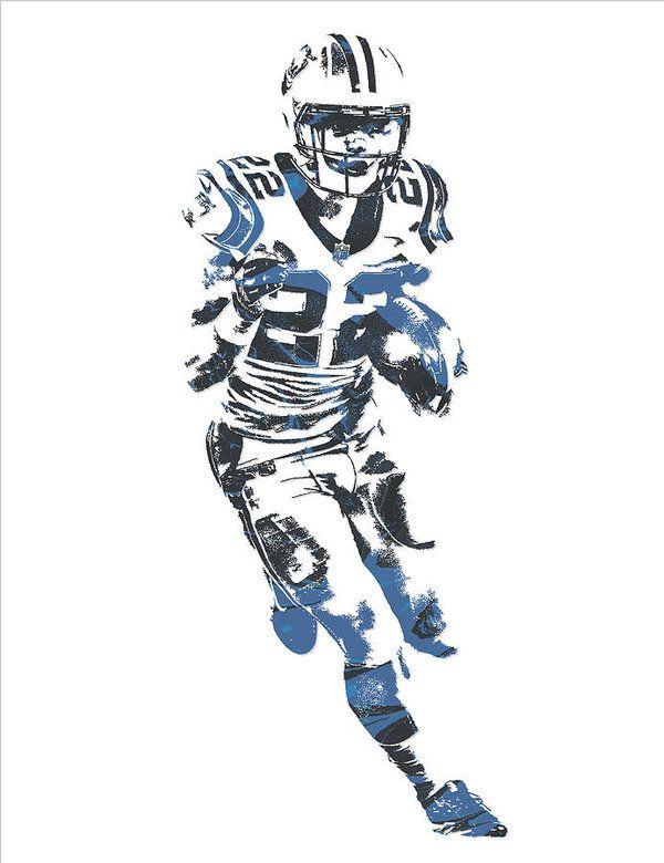 df01337a Christian Mccaffrey Carolina Panthers Pixel Art 1 Art Print | NFL ...