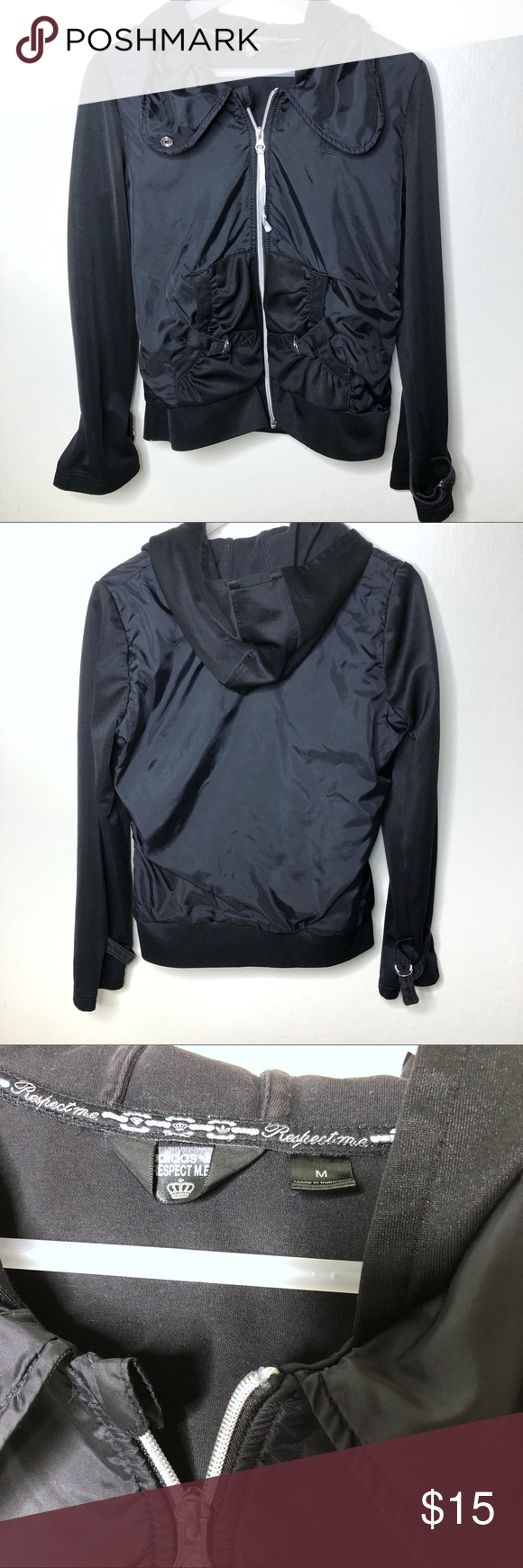 Adidas Respect Me Jacket Adidas Respect Me Missy Elliott Edition Black Jacket Zipped And Buttoned All The Way Or Open With Jackets Clothes Design Black Jacket
