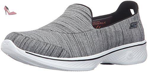 Go Walk 3 Unfold, Sneakers Basses Femme, Black (BBK), 38 EUSkechers