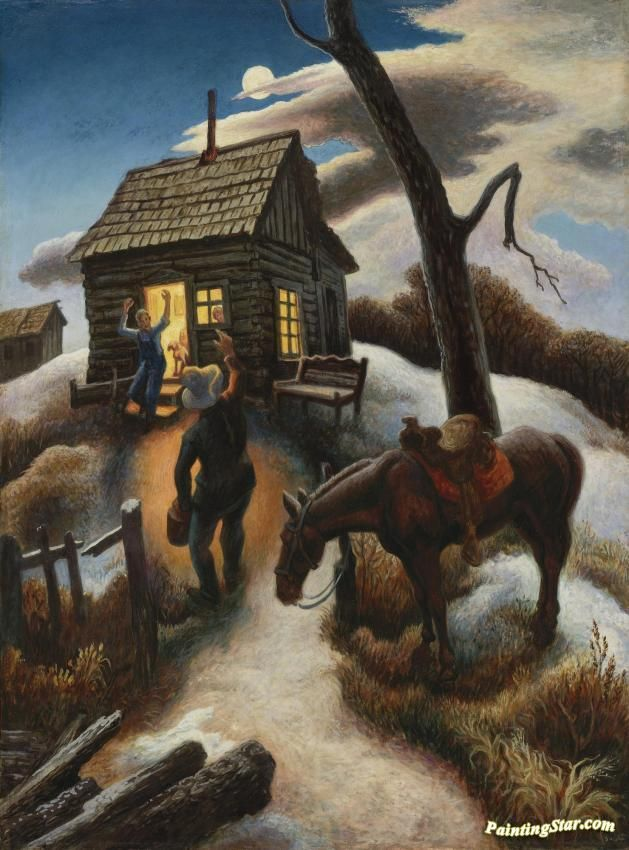 little brown jug artwork by thomas hart benton hand-painted and art ...