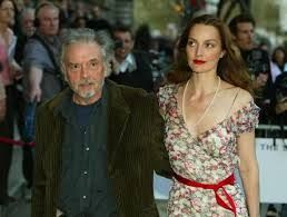 British photographer David Bailey (L) and his wife Catherine Bailey
