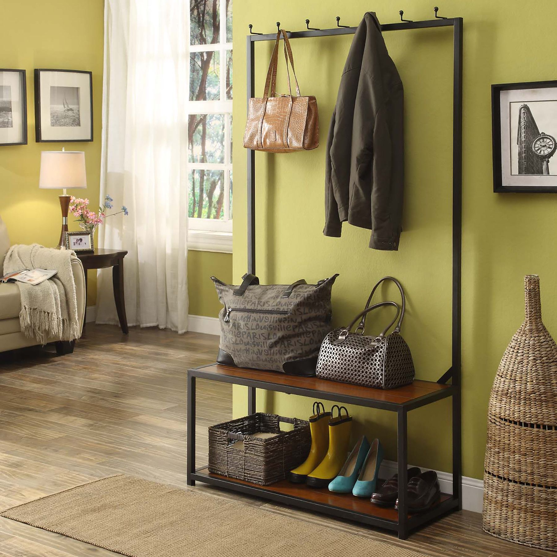Hallway storage with hooks  Winters Hall Tree  Furniture  Pinterest  Hall and House