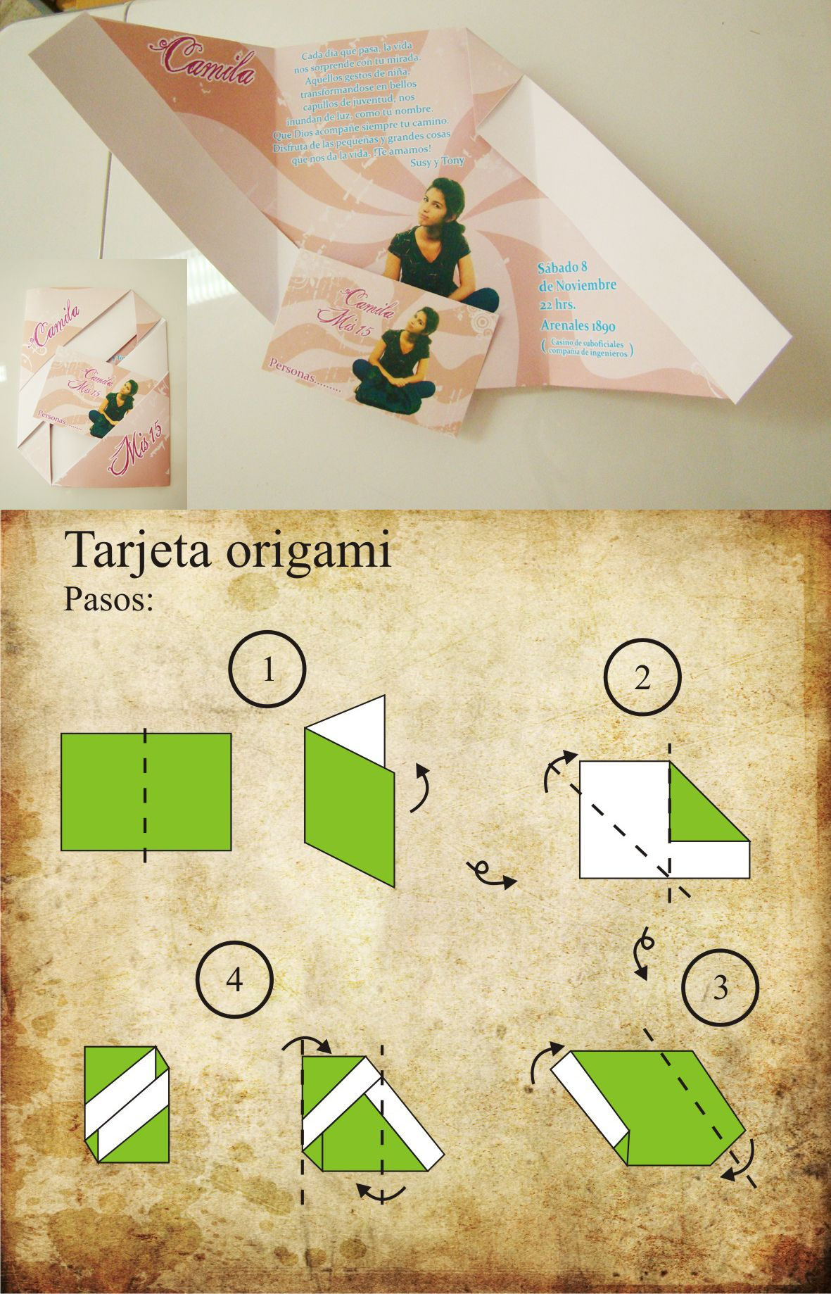 Origami Invitation Card