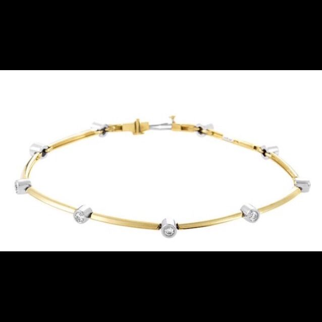 Tiffany & Co 18kt Gold Etoile Diamond Bracelet