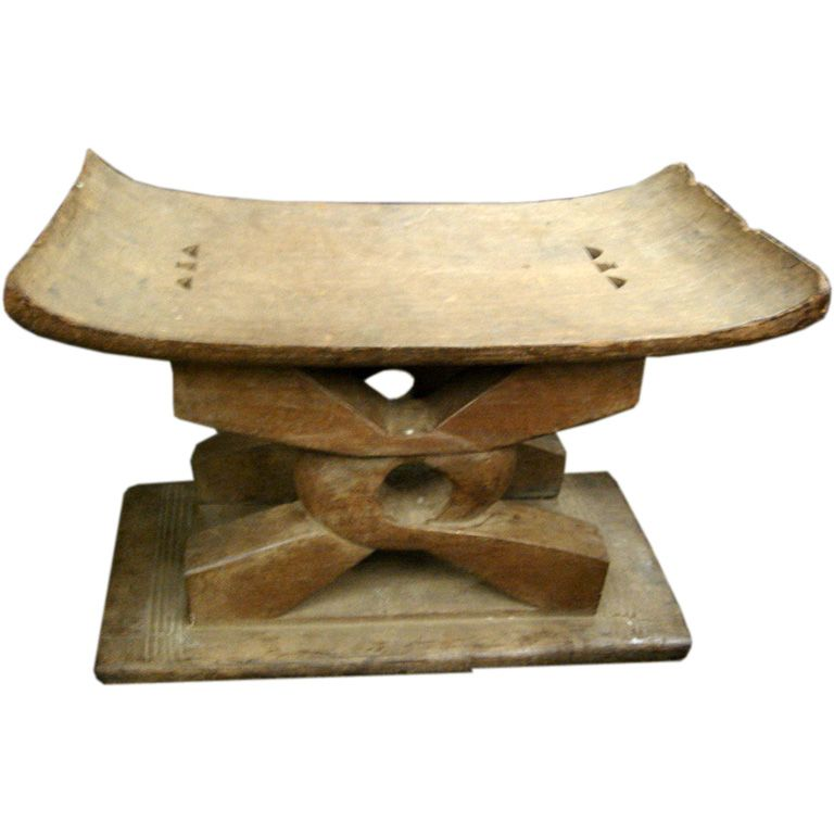 Ashanti African Stool African Home Decor Vintage Table African Accessories
