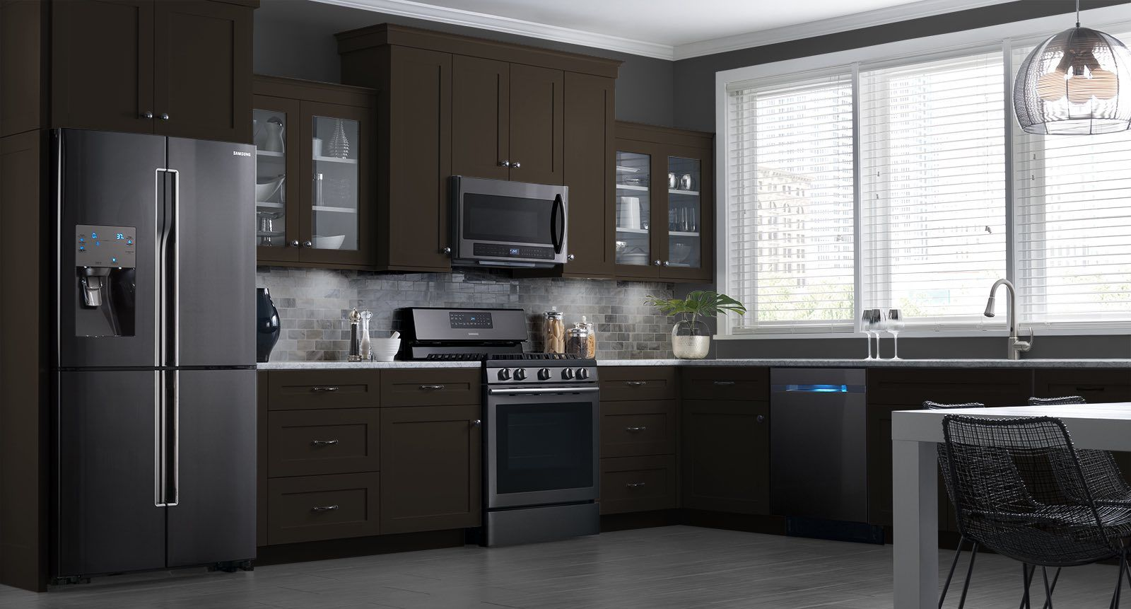 Design My Dream Kitchen These Samsung Black Stainless Steel Appliances Look Beautiful In