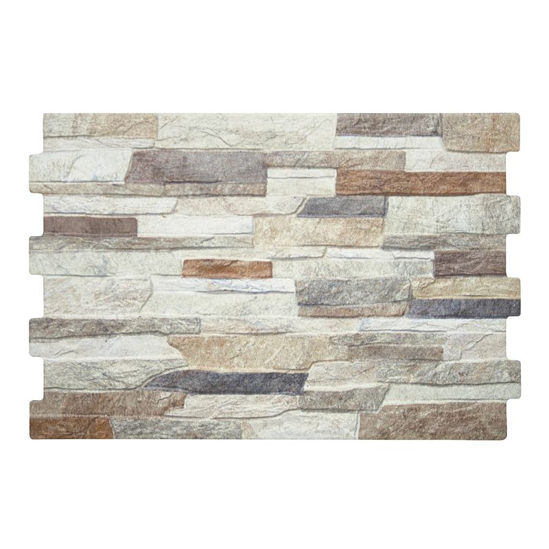 Origin Pebble Stone Effect Linear Travertine Ceramic Wall: Textured Alps (Mixed) Stone Effect Wall Tiles