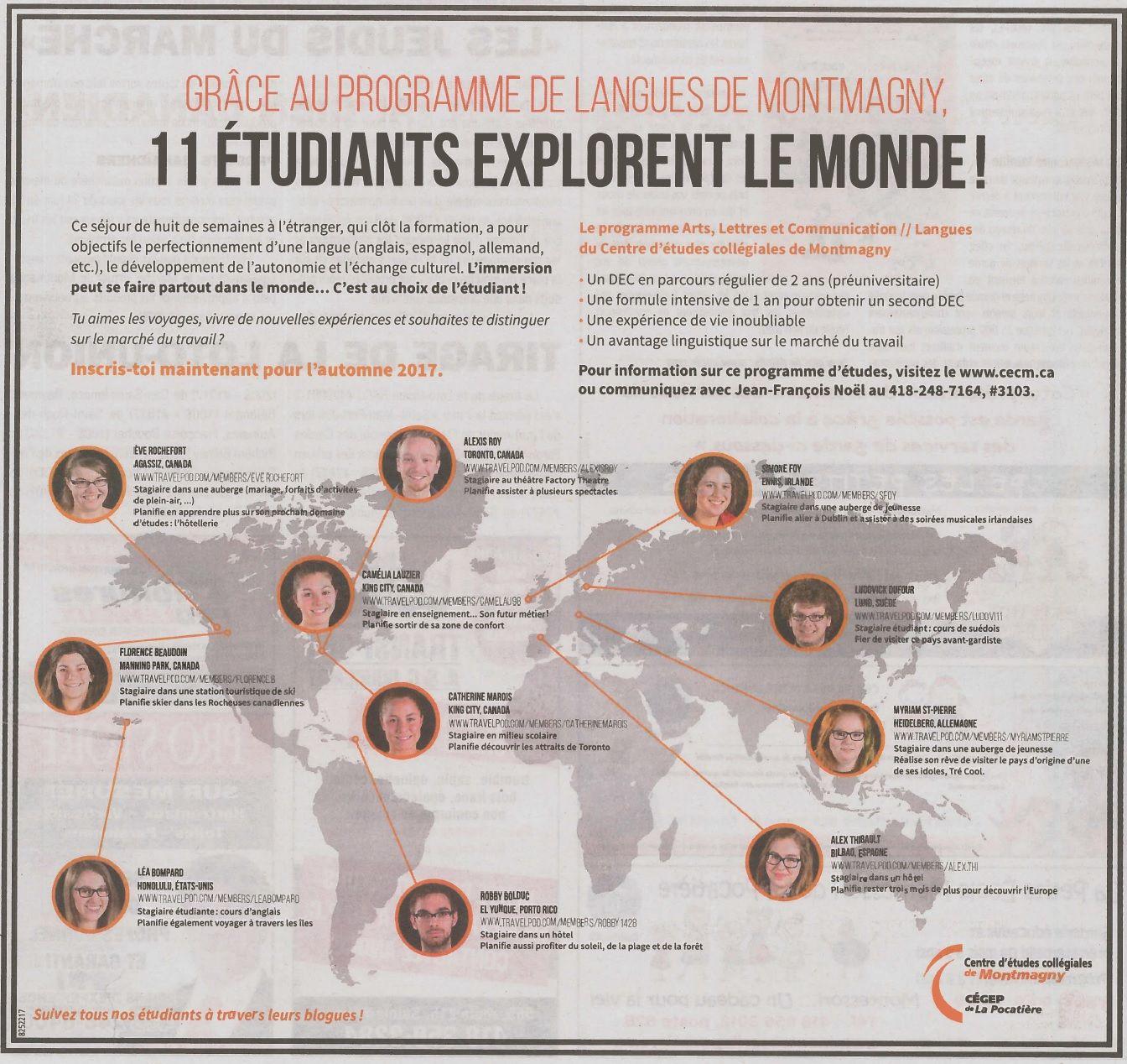 Bibliotheque Francois Hertel Grace Au Programme De Langues De Montmagny 11 Etudiants Explorent Le Monde Revue De Presse Mai 2 Movie Posters Movies Poster