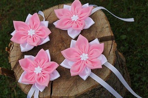 Svadobný venček - ružové kvety