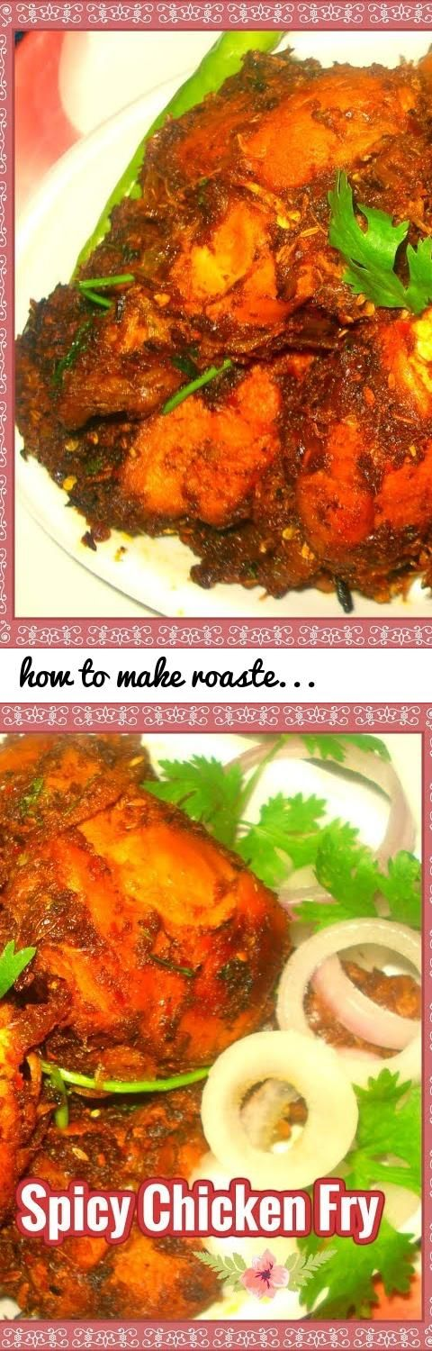 How to make roasted spicy chicken fry recipe in telugu south tags telugu vantalu789 tasty and spicy recipes south indian recipes andhra vantalu cooking chicken spicy fry roasted food forumfinder Image collections