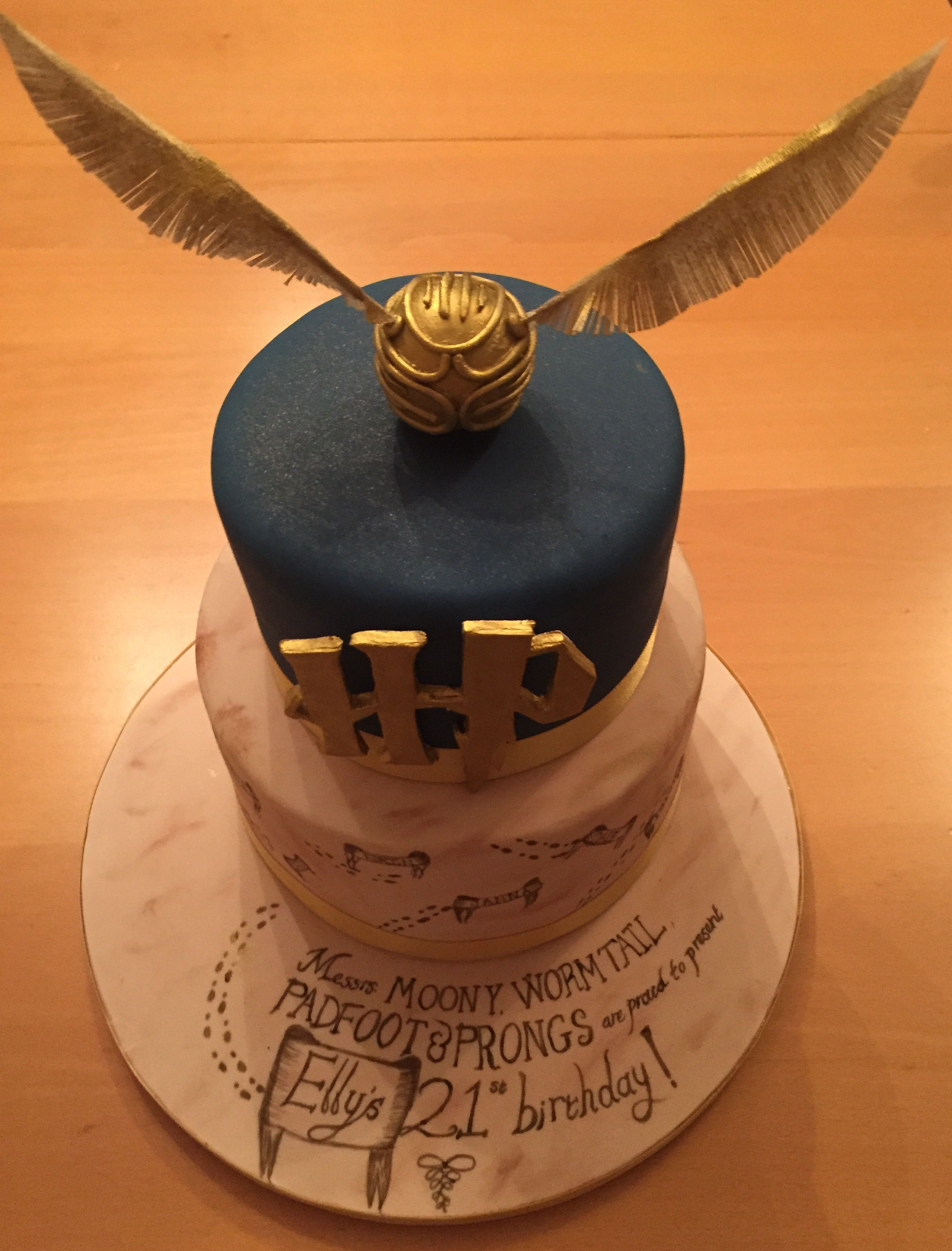 Harry Potter 21st Birthday Cake Cakes Pinterest 21st