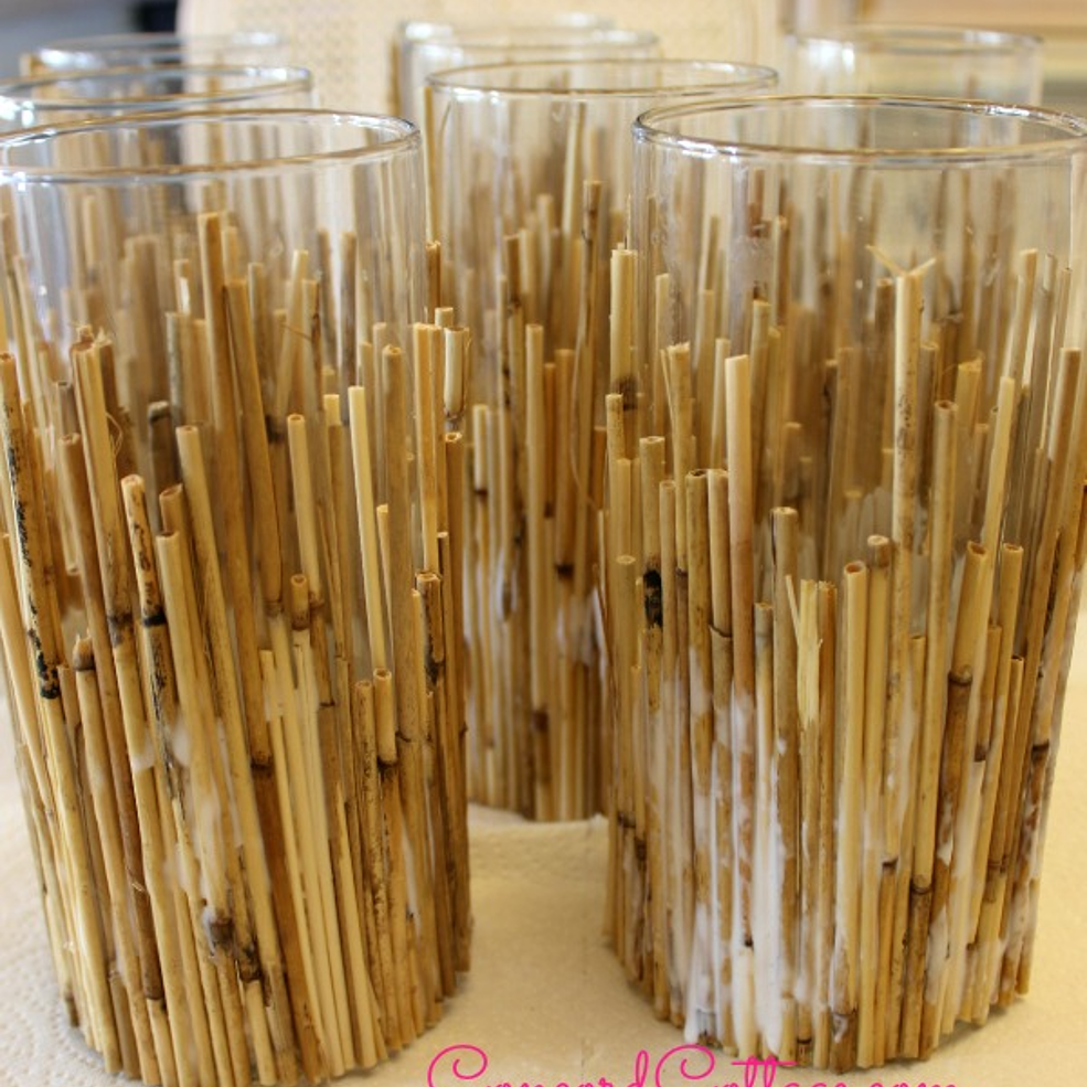 Bamboo Coastal Candleholders
