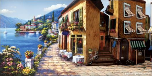 Backdrops Italian Street Scene 4 Several Styles And