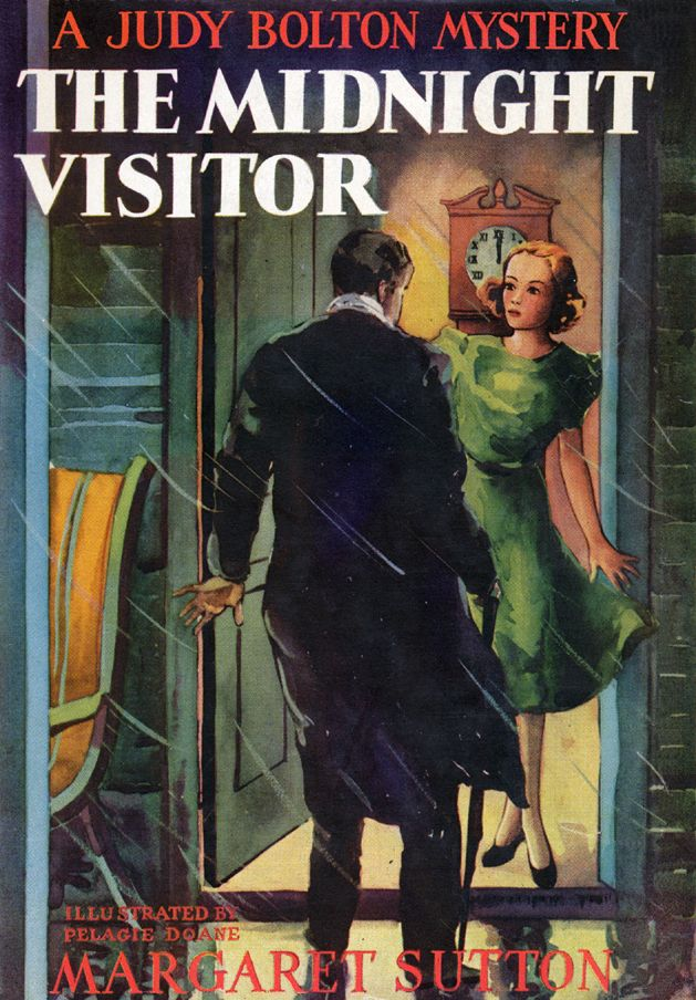 The Midnight Visitor - A Judy Bolton mystery by Margaret Sutton. Illust by Pelagie Doane.
