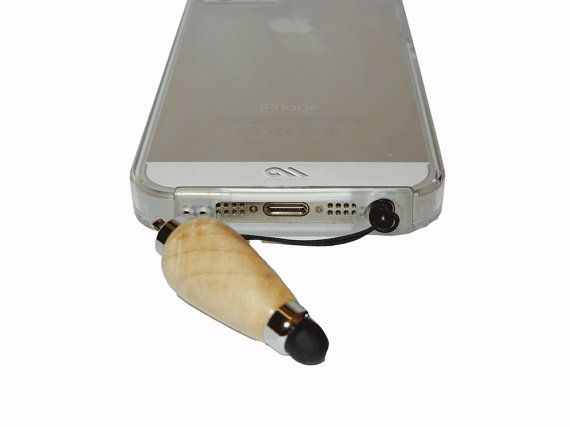 Maple Burl Mini Stylus Touch Screen Product by by craftcrazy4u, $17.00