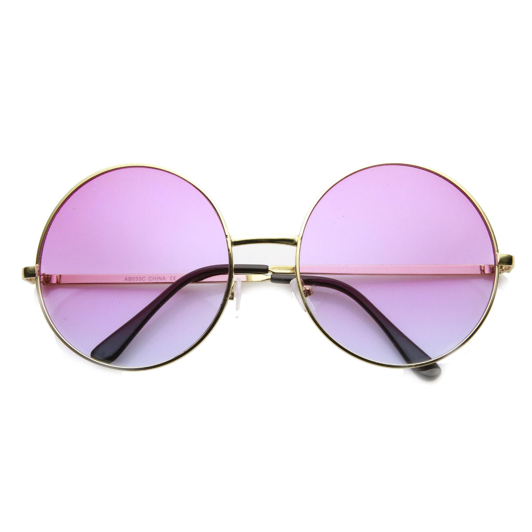 Gafas de Sol Hippie Retro Espejo Redondas Alta Calidad UV 400 A0063 Espejo