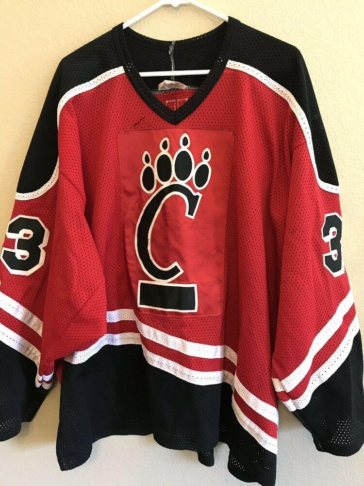 Men's Size 48 Hockey Jersey University Of Cincinnati UC