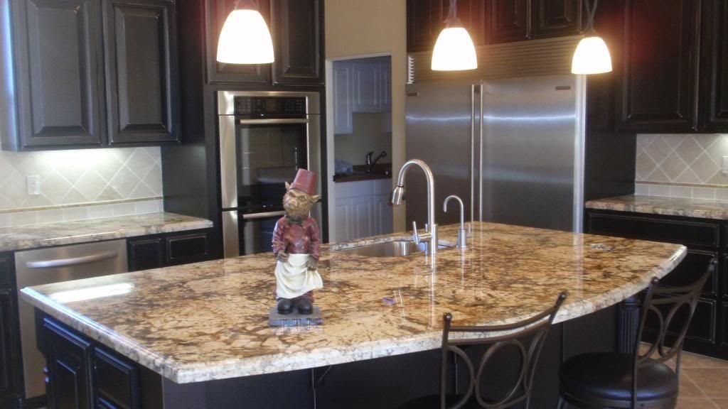 Dark Kitchen Cabinets With Light Granite