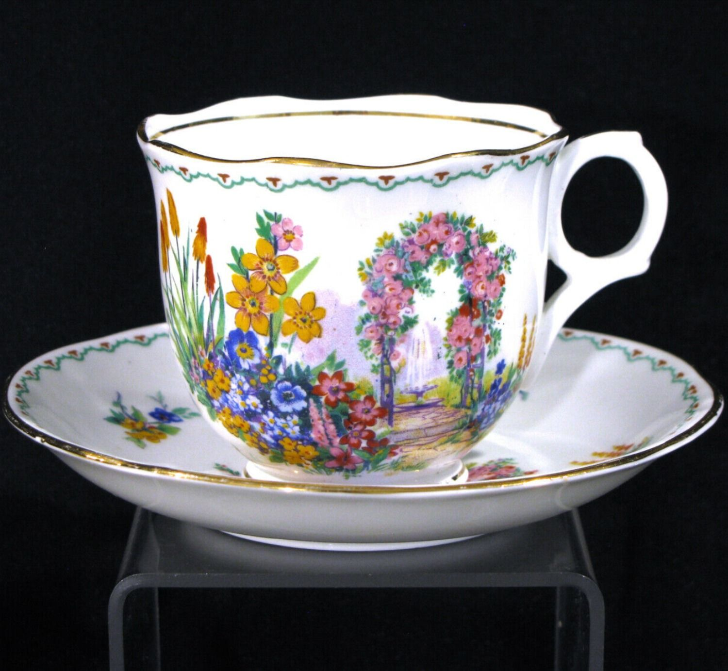 Melba Bone China England Cup and Saucer