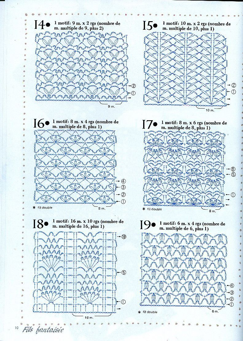 Diagrams For Crochet Stitch Patterns