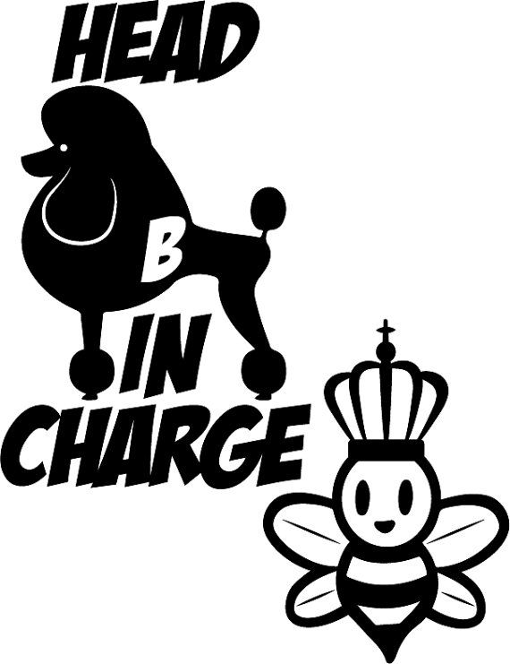 Head b in charge queen bee car decal