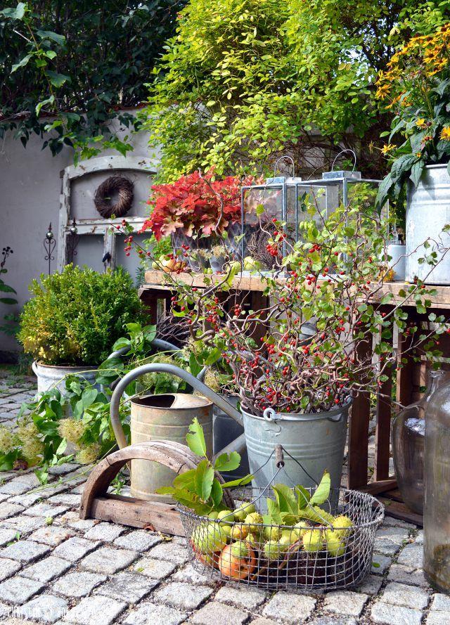 Hof 9: DIY im Herbst und ein Füllhorn der Natur im Innenhof #hofideen