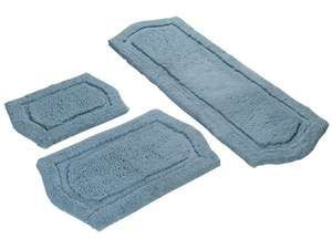 Paradise Memory Foam Bath Rug Set in Spa Blue