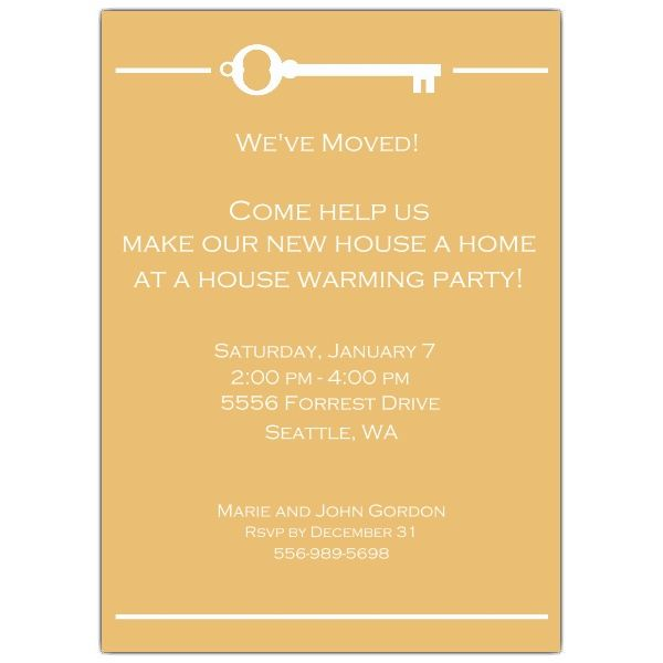 Key House Warming Invitations Moving In \ Household Tips - housewarming invitation template
