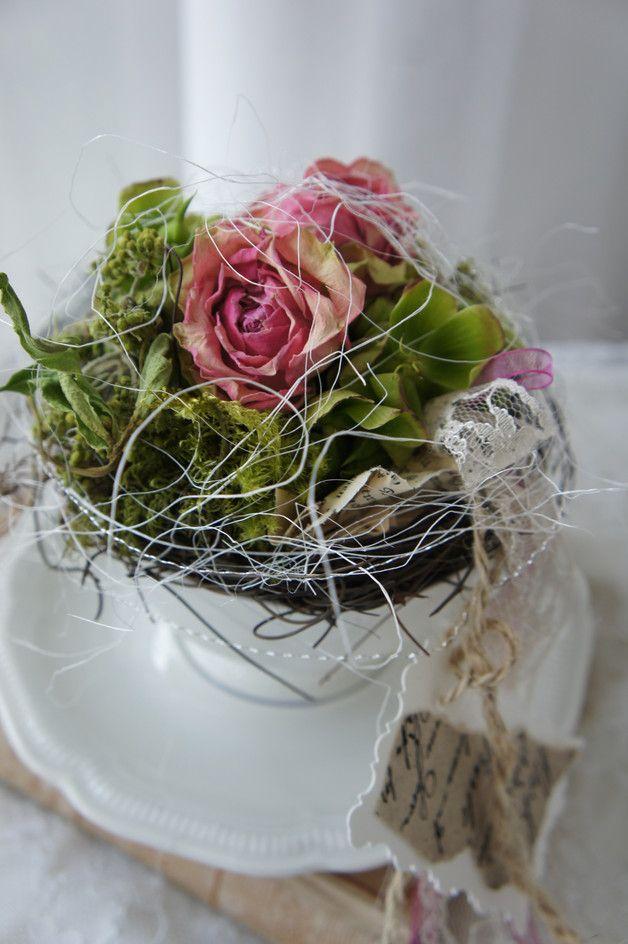dekoration kleines dankesch n rosen zum kaffee ein designerst ck von troedelliebelei. Black Bedroom Furniture Sets. Home Design Ideas