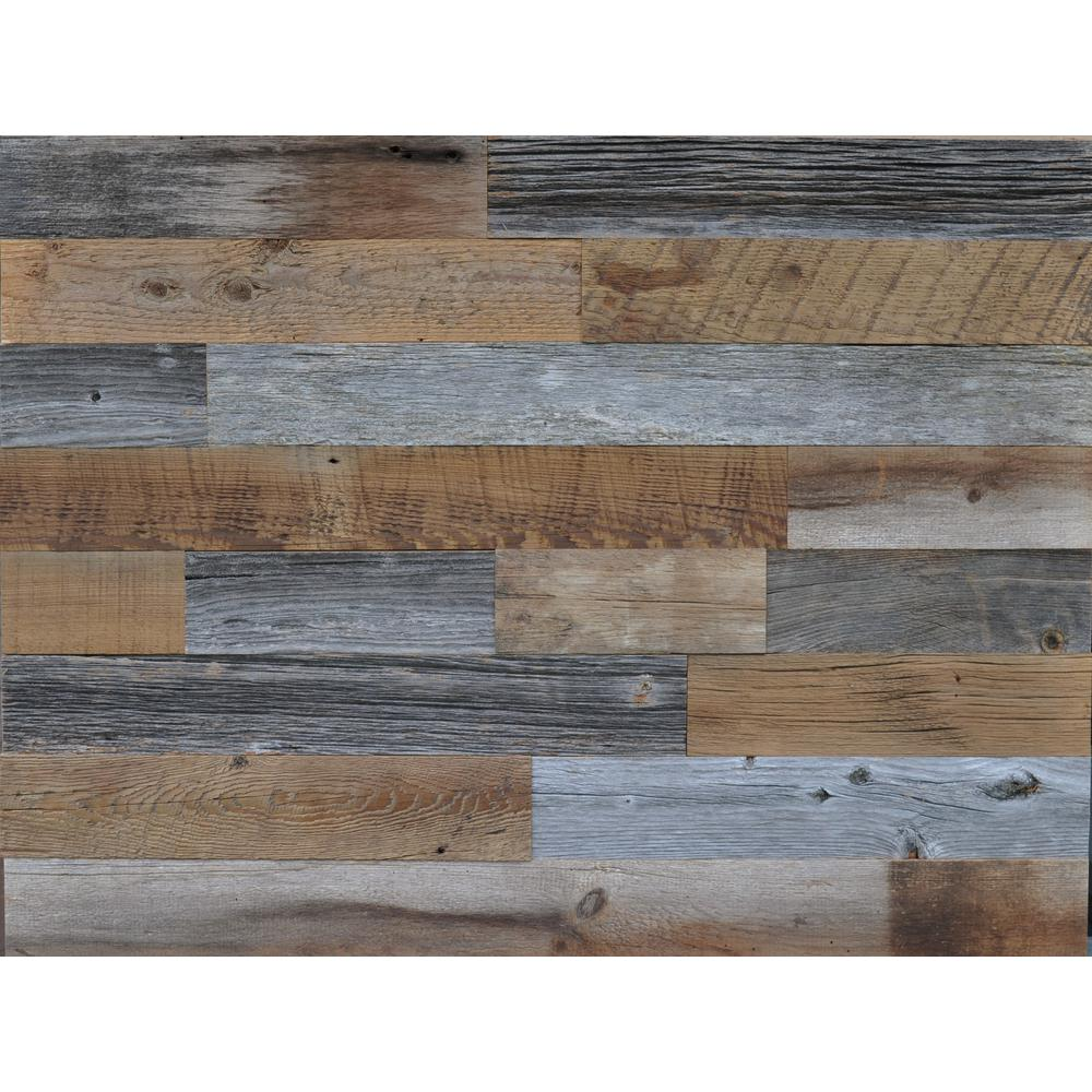 East Coast Rustic Reclaimed Wood Brown And Gray 3 8 In Thick X