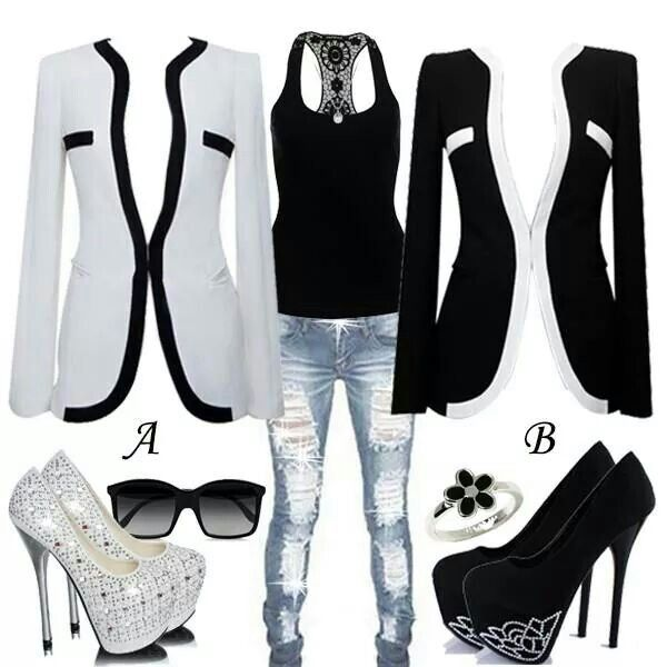 Black n White Casual