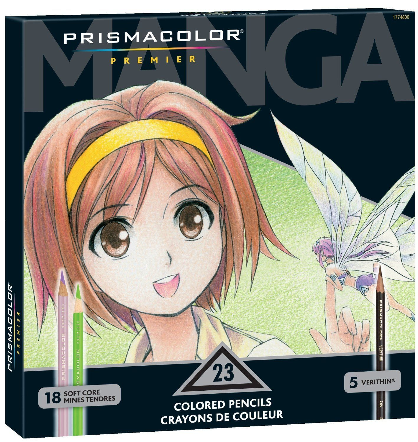 Prismacolor Premier Colored Pencils, Manga Colors, 23 Pack