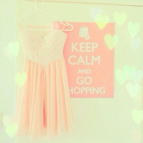 Imagem de dress, pink, and shopping