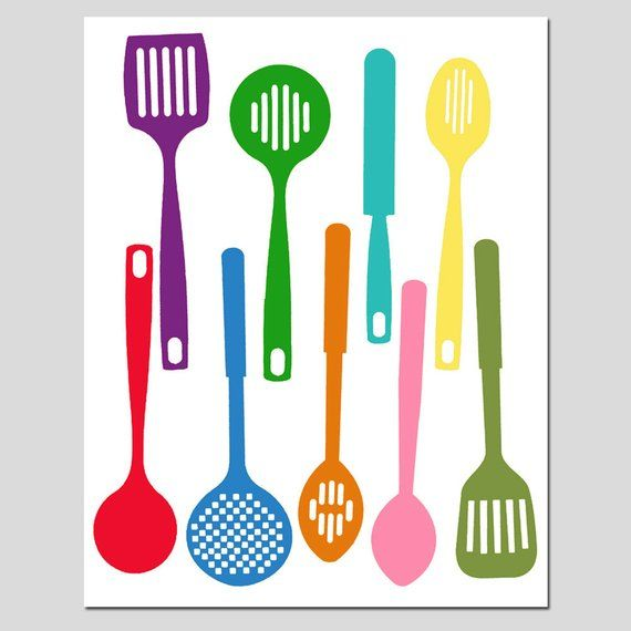 Kitchen Utensils - Spatula Collection - 11x14 Silhouette ...