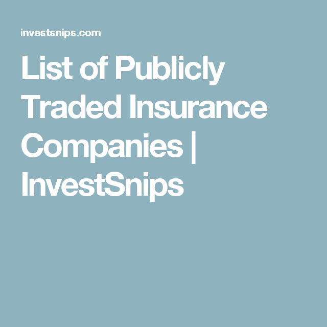 List Of Publicly Traded Insurance Companies Vegan Company