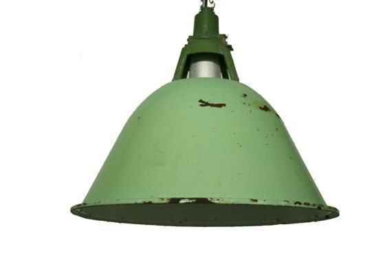 2d31d4031eb0 Very large industrial pendant lights - industrial lamps - factory lights -  enamel pendant lights - enamel lamps - green lamp shade