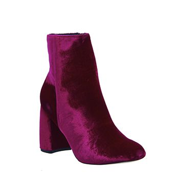 Office Literally High Cut Boots Pink Velvet Ankle