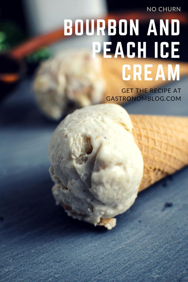 Peach Bourbon No Churn Ice Cream Usign Sweetened Condensed Milk Peaches Butter Brown Sugar Cinnamon Heav Peach Ice Cream Ice Cream Frozen Dessert Recipe