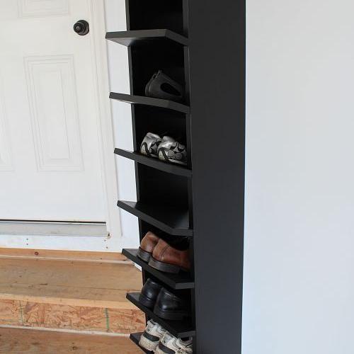 Custom Built Diy Shoe Rack For Our Garage Diy Shoe Rack Shoe Organization Diy Diy Shoes