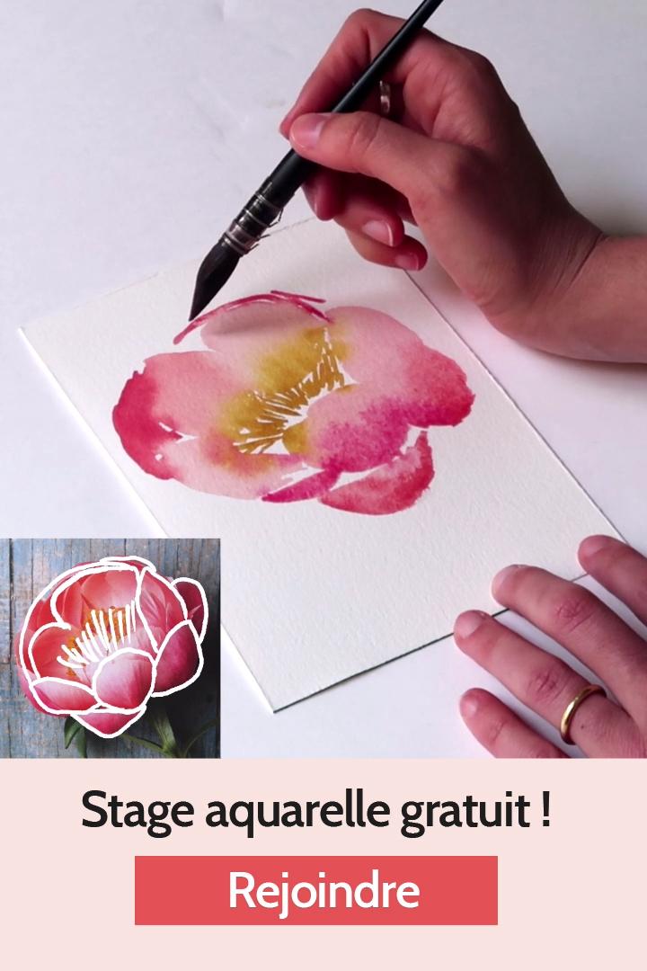 Inscrivez-vous pour rejoindre ce stage d'aquarelle gratuit, idéal pour les débutants à l'aquarelle. Pendant 12 jours, profitez de tutoriels aquarelle facile sur les fleurs à l'aquarelle. Votre pratique va décoller et vous rencontrerez la communauté aquarelle qui est extrêmement bienveillante et encourageante ! Rejoignez-nous ! #stayINspired