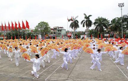 Elders practice traditional martial arts