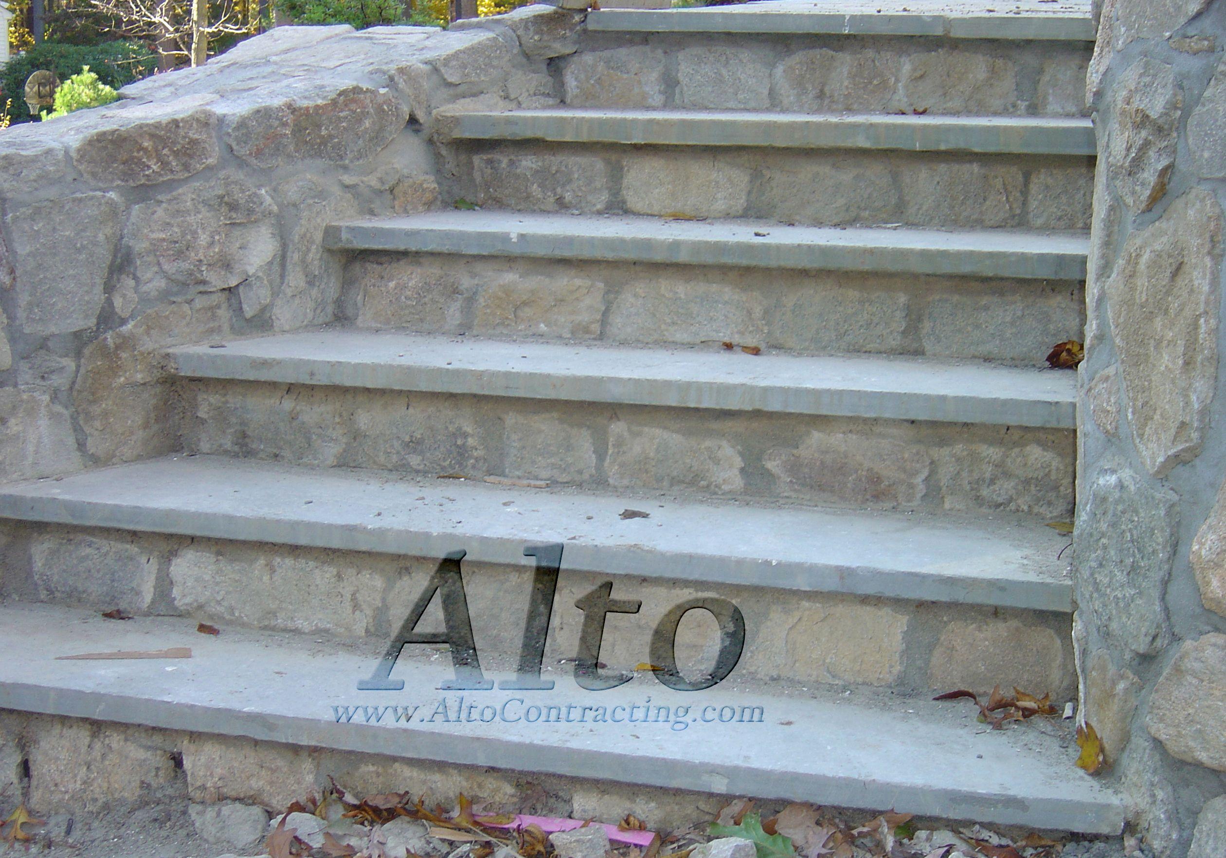 Best Stone Steps With Blue Stone Treads Brick Steps 400 x 300