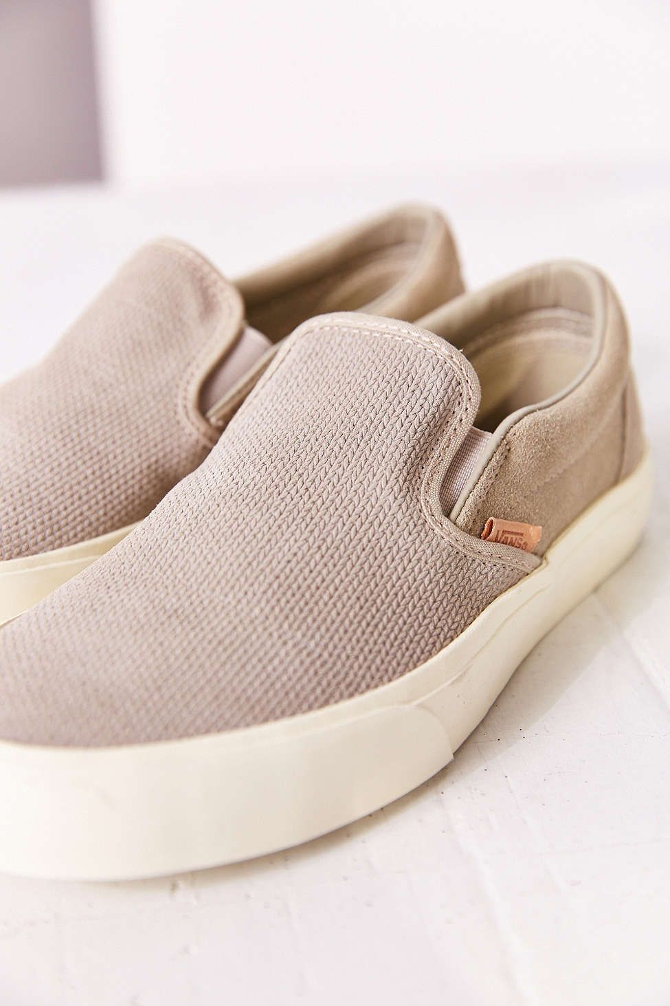 08707d3a99 ... shoes  Vans Classic Knit Suede Slip-On Womens Sneaker - Urban Outfitters