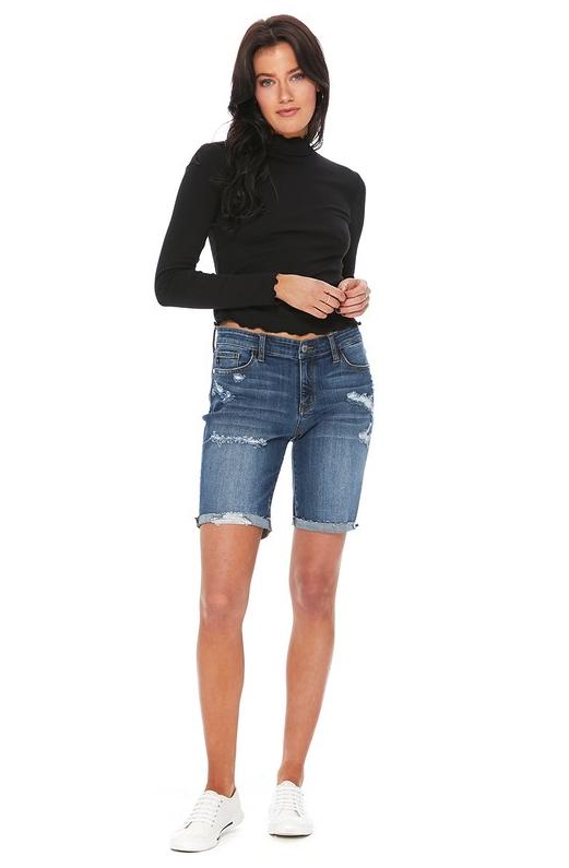 8621e1781758 Destroyed Bermuda Shorts #judybluejeans #thekrazeboutique #denim  #boutiqueshopping
