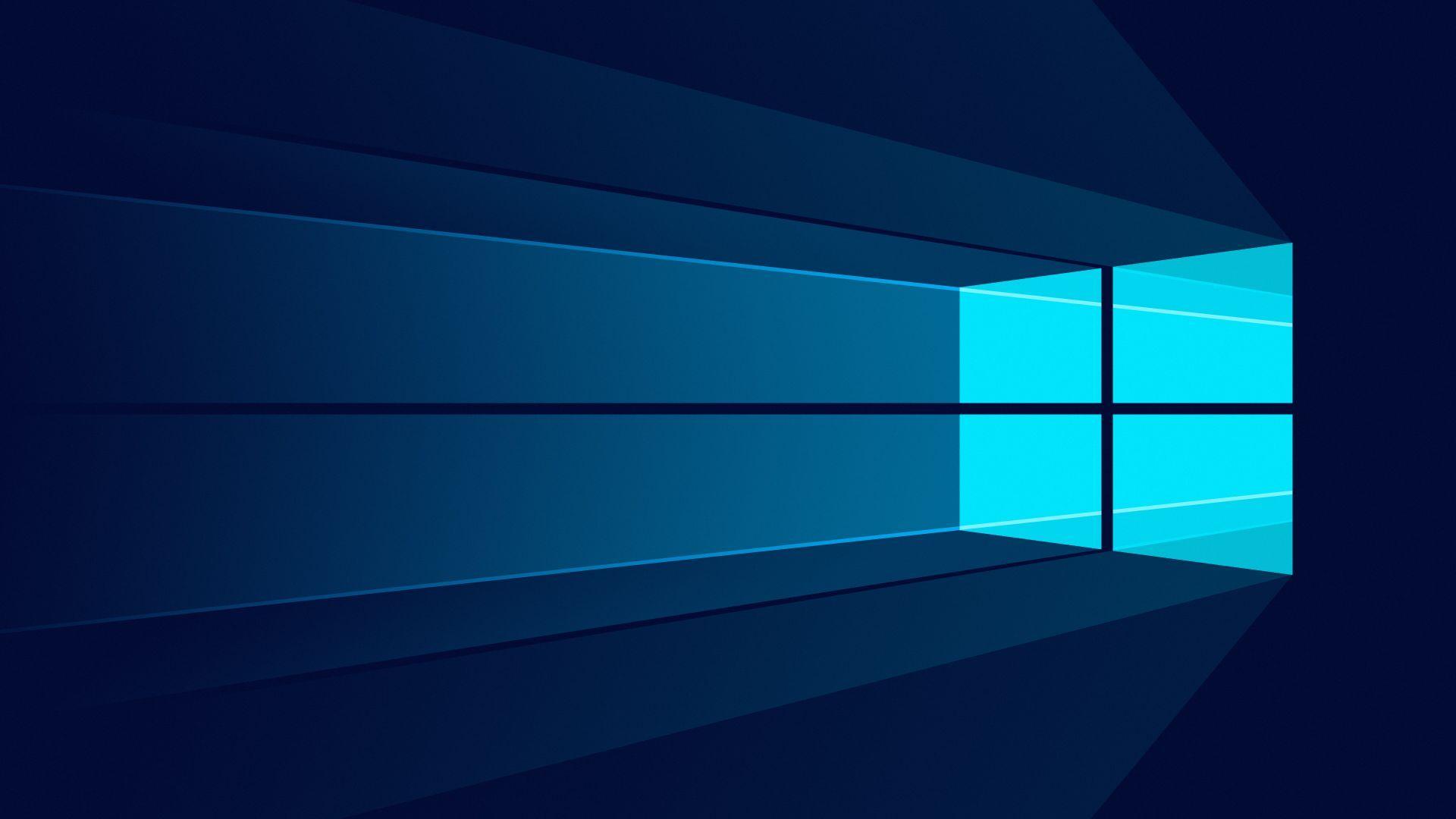 Windows 10, Minimal, Stock, Logo, Microsoft, 4K
