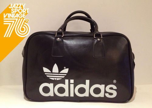 5bd8f89a6a75 Vintage 1970s Adidas Peter Black Northern Soul Holdall Weekend Sports Bag  (NOS)