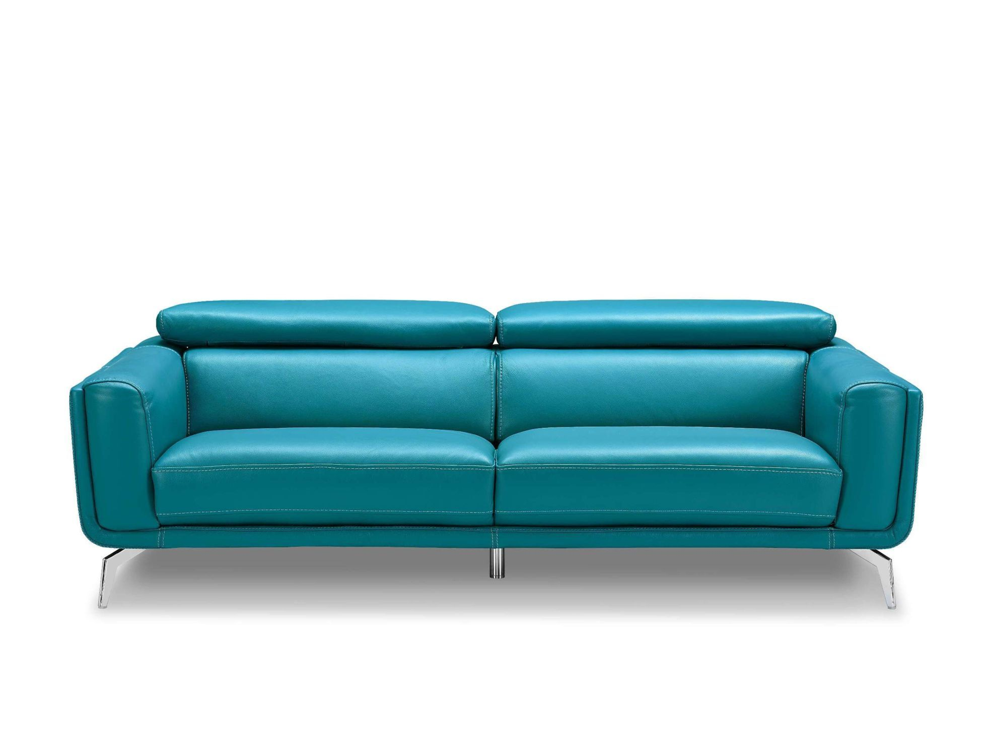 Sprint Modern Sofa In Blue Leather Teal Leather Sofas Blue Leather Sofa Modern Leather Sofa