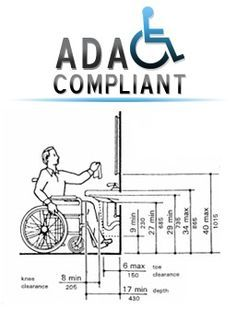 An Ada Compliant Chart For Height Of Bathroom Fixtures Good