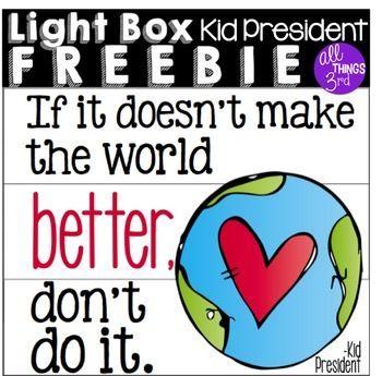 foto de Light Box Freebie Kid President