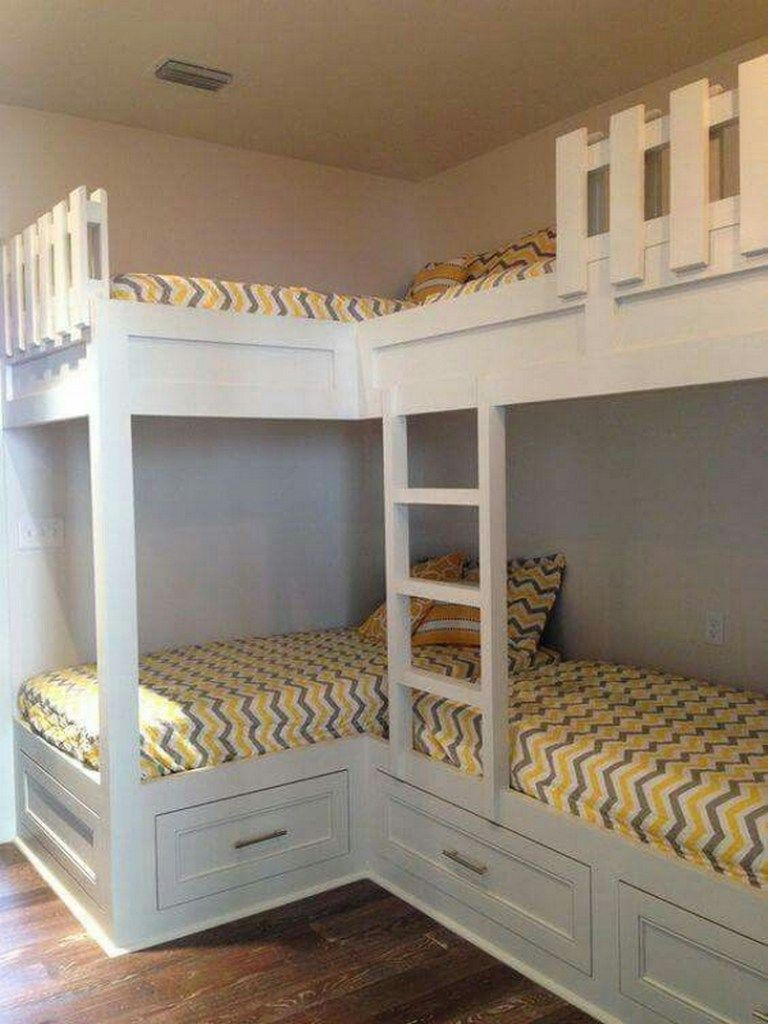 82 Amazing Models Bunk Beds With Guard Rail On Bottom Ensuring Your Bunk Bed Is Safe For Your Children Bunk Bed Designs Corner Bunk Beds Bunk Beds Built In